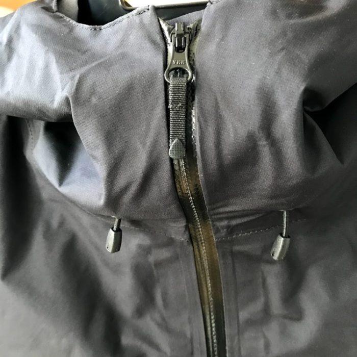 クライムライトジャケットファスナー