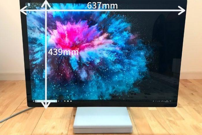 SurfaceStudio2のディスプレイサイズ