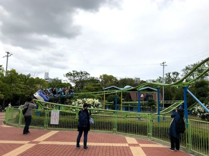 碧南市明石公園のジェットコースター