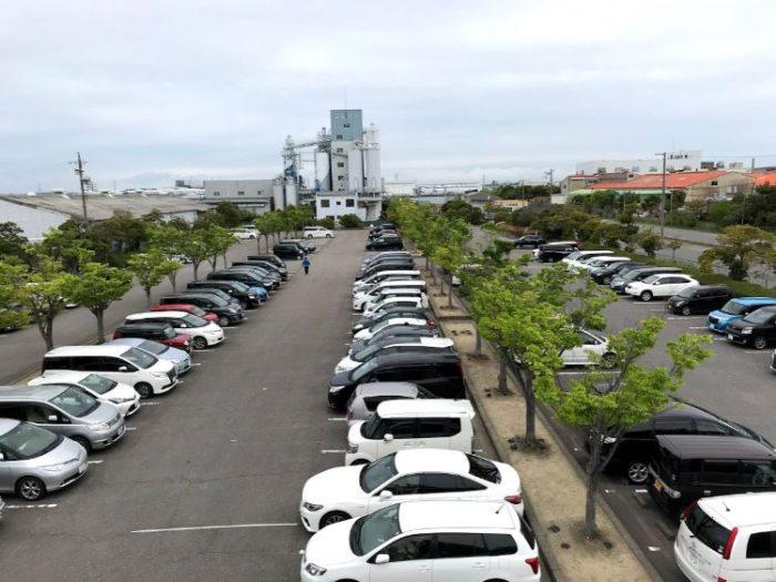 碧南市明石公園の駐車場