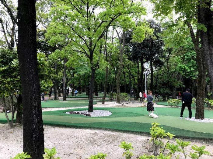碧南市明石公園のパターゴルフ場