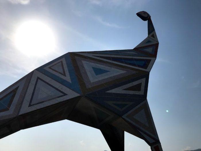恐竜博物館のオブジェ