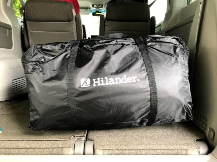 Hilander(ハイランダー)エアートンネルROOMY 収納時の大きさ