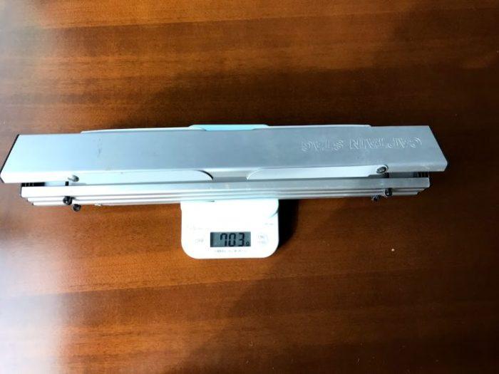 キャプテンスタッグ アルミロールテーブルの重さ