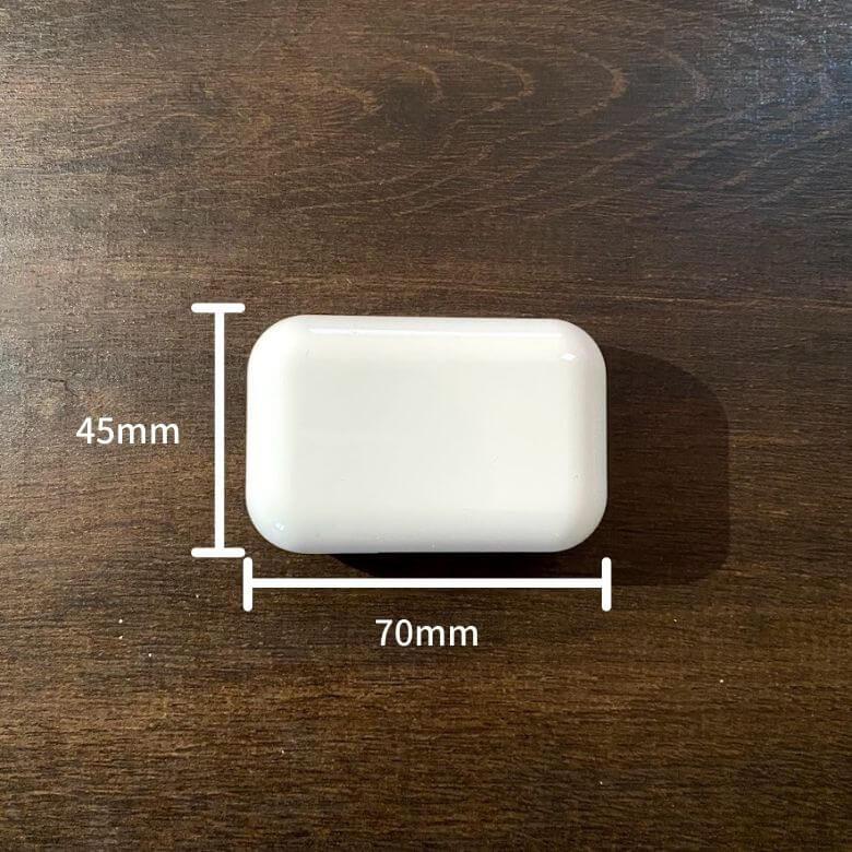 3COINS(スリーコインズ)のワイヤレスイヤホンのサイズ
