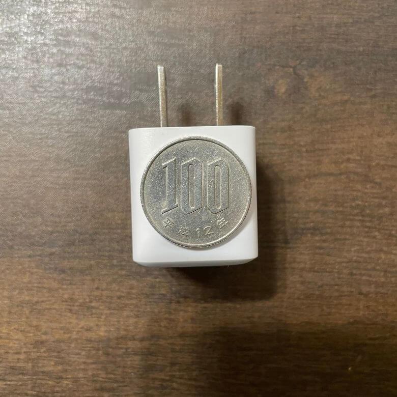 【iPhone12おすすめ充電器】Anker PowerPort III Nanoのサイズ