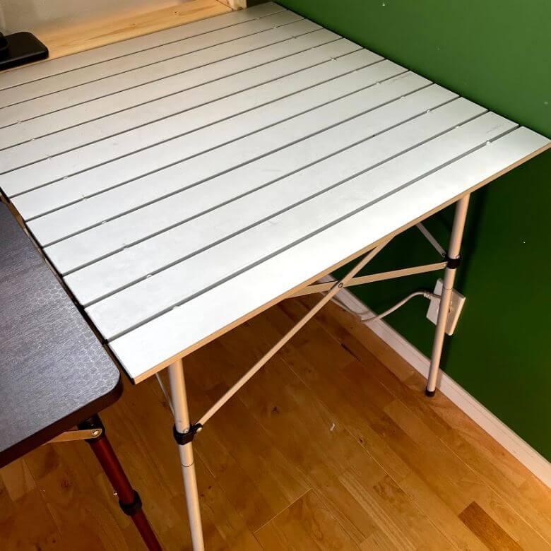 テレワークに便利なグッズ アウトドアテーブル