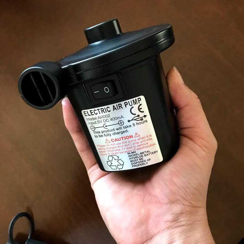 電動エアーポンプ「deeplee」は手のひらサイズ