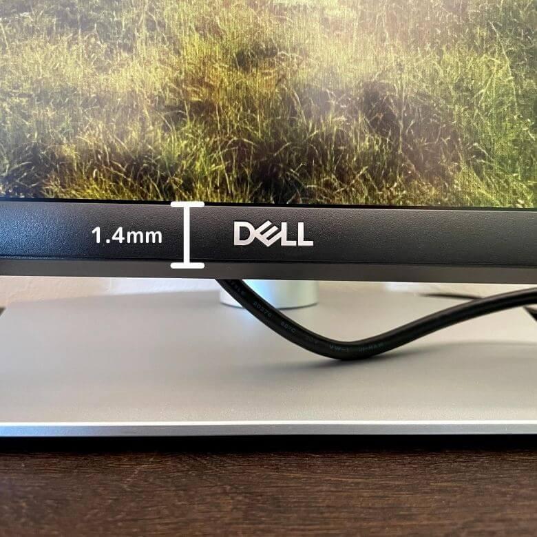 Dell 27インチWQHDモニター S2721DSベゼルの厚み