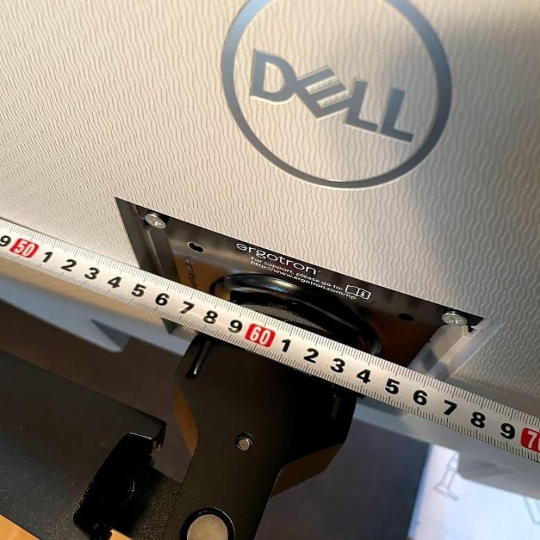 エルゴトロンOEM。HPモニターアームの横幅サイズ