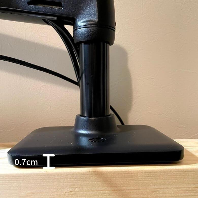 エルゴトロンOEM。HPモニターアームの台座のサイズ