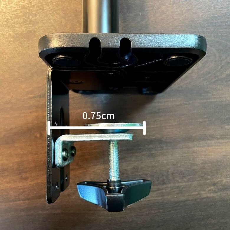 エルゴトロンOEM。HPモニターアームのクランプの幅